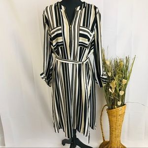 Dresses & Skirts - Plus Size Vertical Striped Shirt Dress